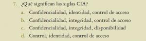 confidencialidad, integridad y disponibilidad CIA